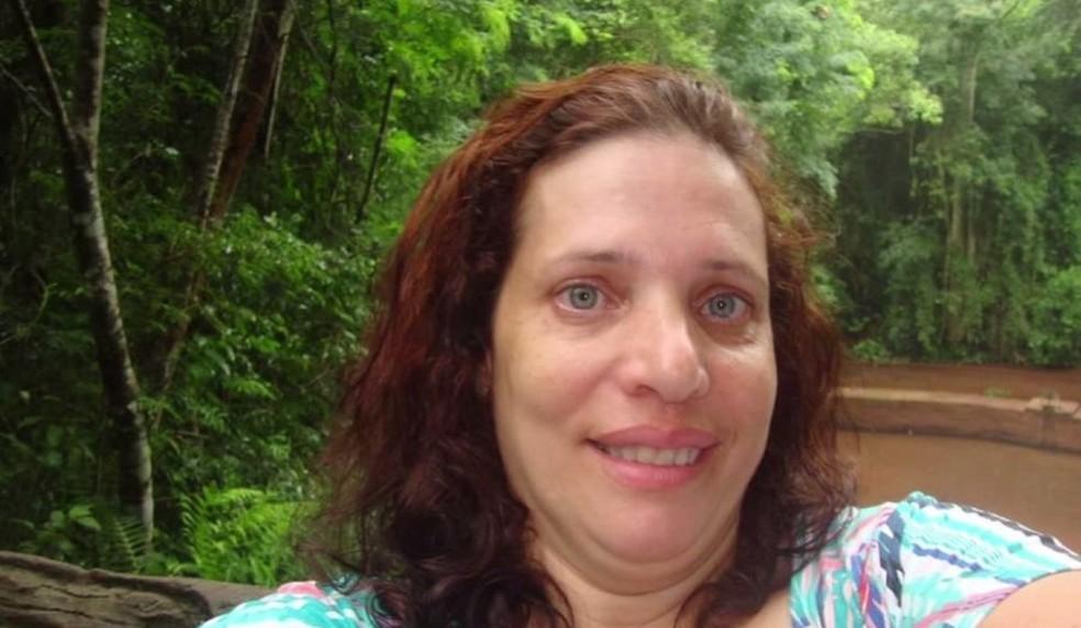 Sandra foi morta a facadas pelo ex-marido, de acordo com a polícia — Foto: Reprodução/RPC