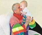 Xuxa e a afilhada | Arquivo pessoal