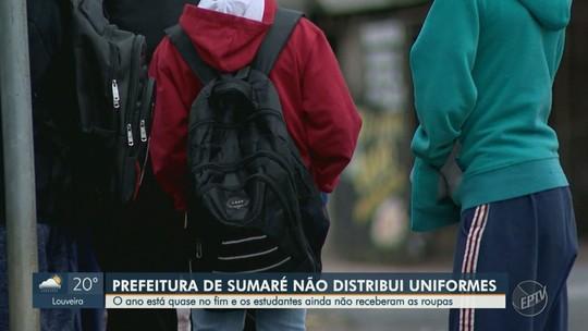 A menos de 4 meses do fim do ano letivo, alunos da rede municipal de Sumaré ainda não receberam uniformes