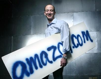 Jeff Bezos em uma imagem de 1995, ano de fundação da Amazon