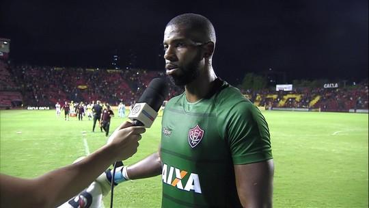 João Gabriel entende que fez uma boa estreia com a camisa do Vitória