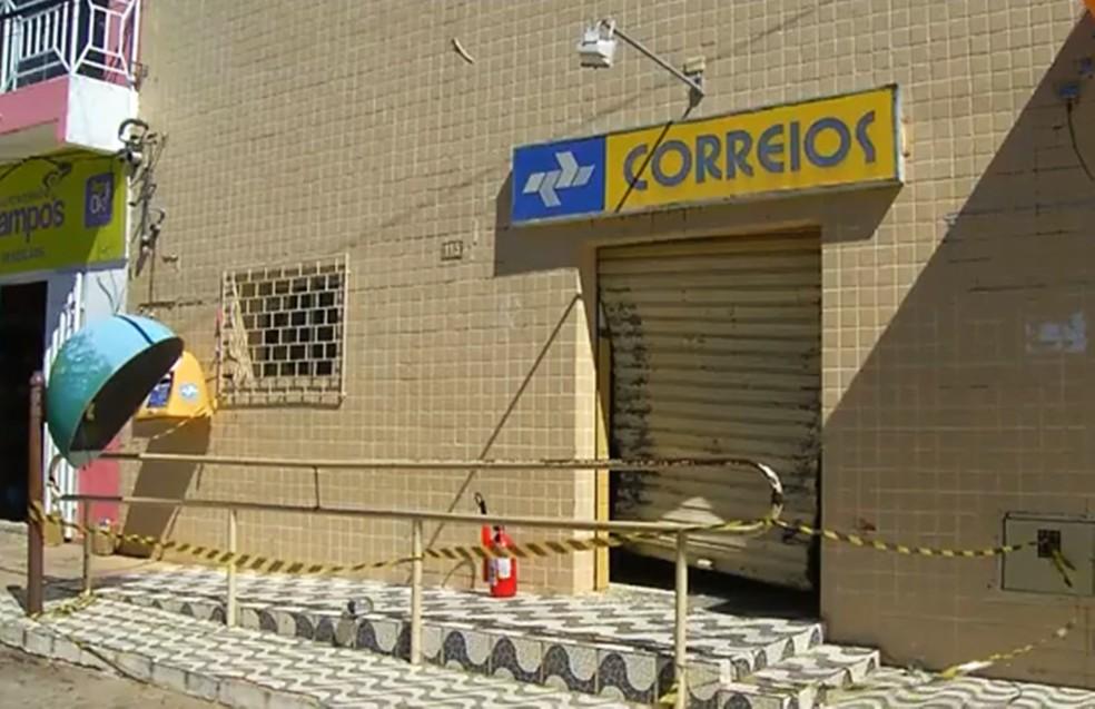 Agências dos Correios eram os alvos da quadrilha, presa em maio deste ano no RN — Foto: Inter TV Cabugi/Reprodução