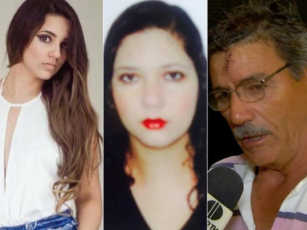 Sarah, Fabiane e Marco Aurélio foram vítimas de boatos na internet (Foto: Arquivo Pessoal // Reprodução/Inter TV)
