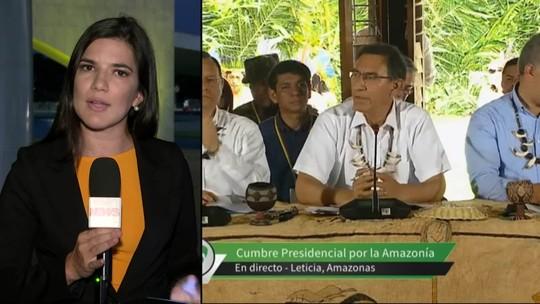 Cúpula na Colômbia: países buscam acordo para combater fogo na Amazônia