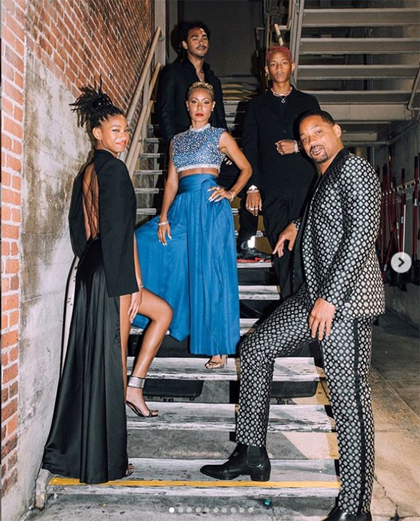 Will Smith e a família (Foto: Instagram)