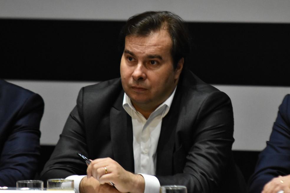 Rodrigo Maia (DEM-RJ), presidente da Câmara dos Deputados — Foto: Roberto Casimiro/Fotoarena/Estadão Conteúdo