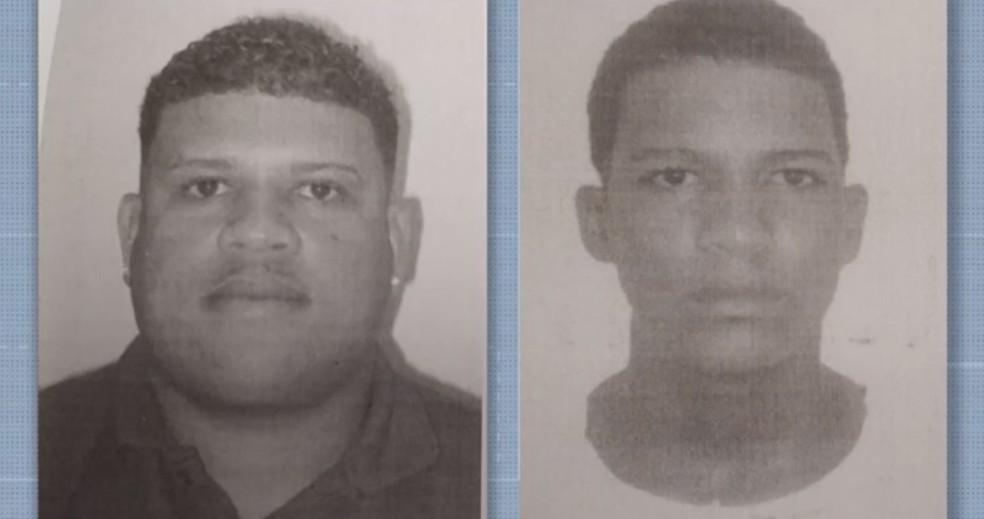 Dois homens são mortos a tiros por grupo encapuzado que chegou em carro na Bahia — Foto: Reprodução/TV Subaé