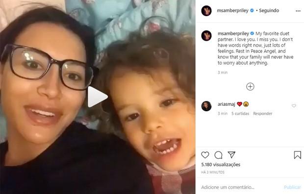 Famosos lamentam a morted e Naya Rivera (Foto: Reprodução/Instagram)