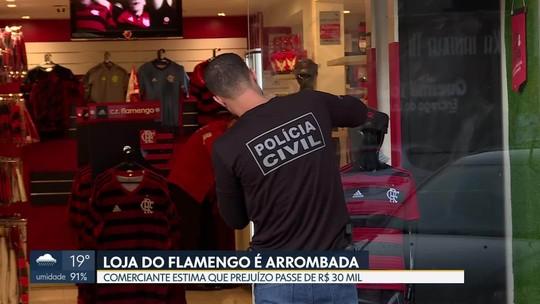 Polícia acredita que ladrões de loja do Flamengo são reincidentes