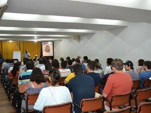 Assembleia de bancários do Banco do Nordeste em Salvador, na Bahia (Foto: Divulgação/Sindicato)