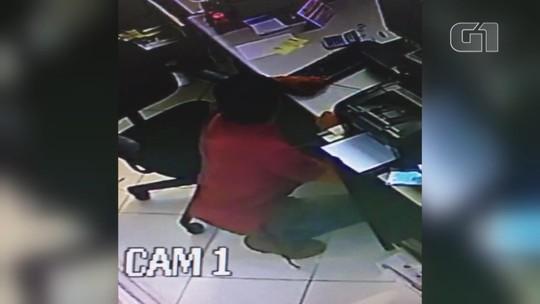 Câmera de segurança registra furto em loja de materiais de construção em Tatuí; vídeo