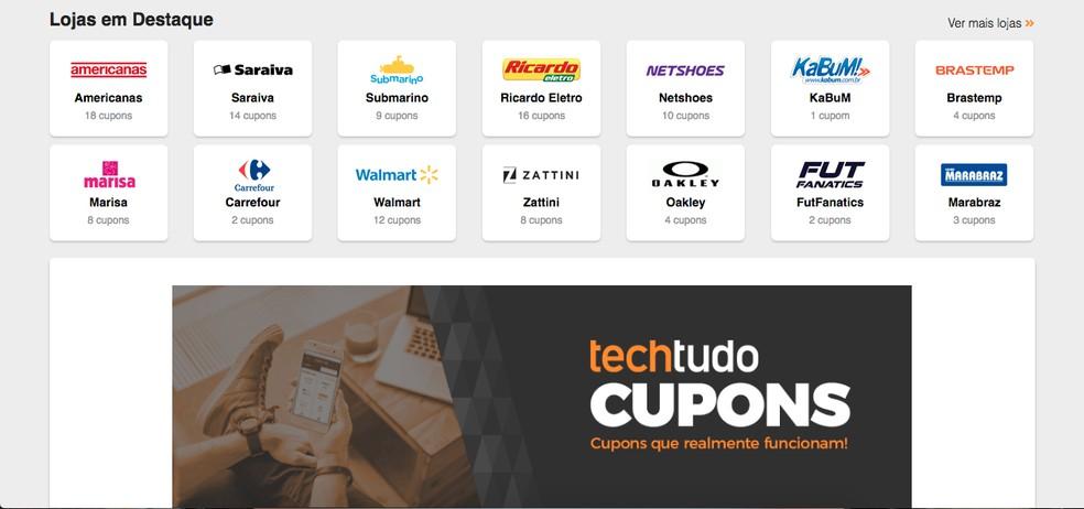 Cupons de desconto TechTudo: site traz códigos para comprar mais barato |  E-commerce | TechTudo