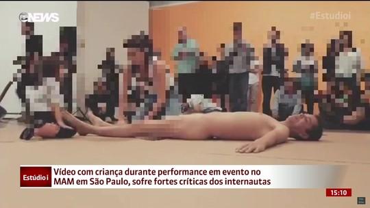 Interação de criança com artista nu em museu de São Paulo gera polêmica