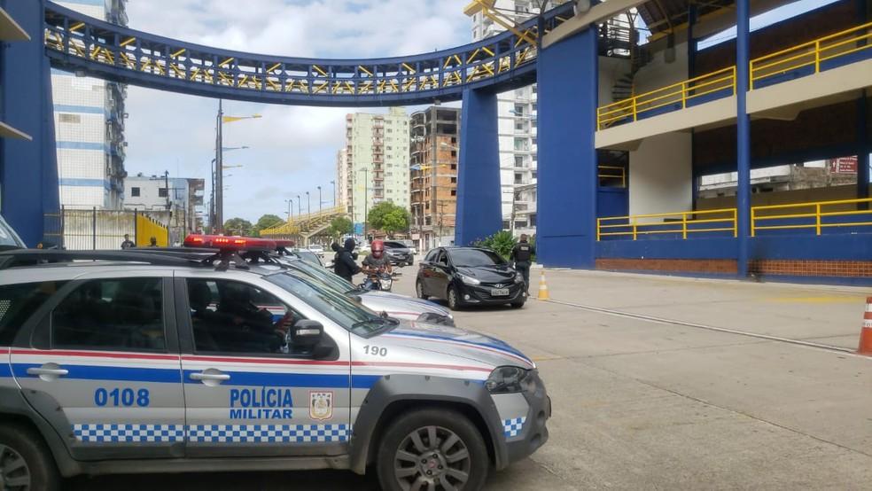 Primeiro dia de lockdown em Belém — Foto: André Laurent/TV Liberal