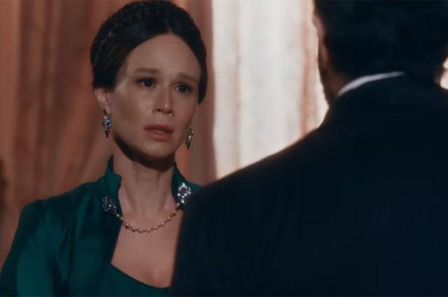 Luísa (Mariana Ximenes) e Pedro (Selton Mello) em 'Nos tempos do Imperador' (Foto: TV Globo)