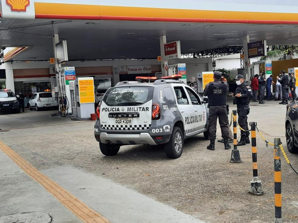 Mais de 100 postos foram fiscalizados durante a operação Petróleo Real no RN. — Foto: Sesed/Divulgação