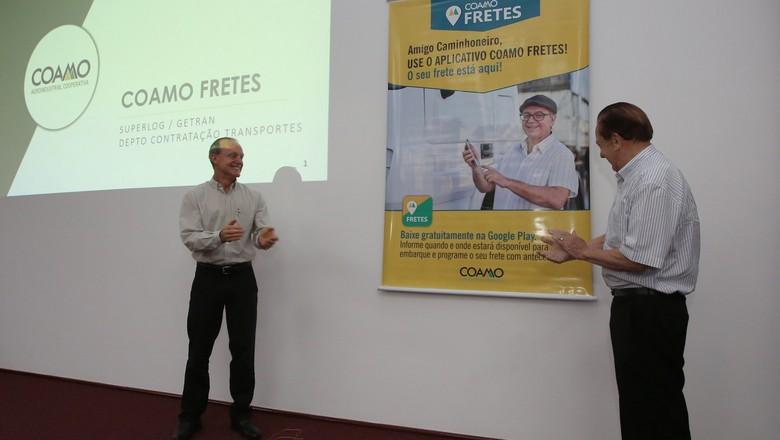 Lançamento da Coamo Fretes, aplicativo de cooperativa paranaense (Foto: Divulgação)