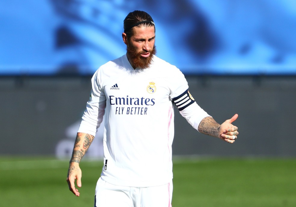 Sergio Ramos no jogo do Real Madrid — Foto: REUTERS/Javier Barbancho