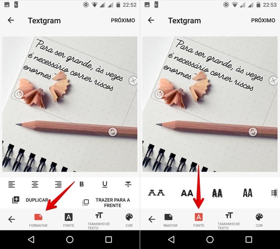 Personalizando formatação do texto (Foto: Reprodução/Helito Bijora)