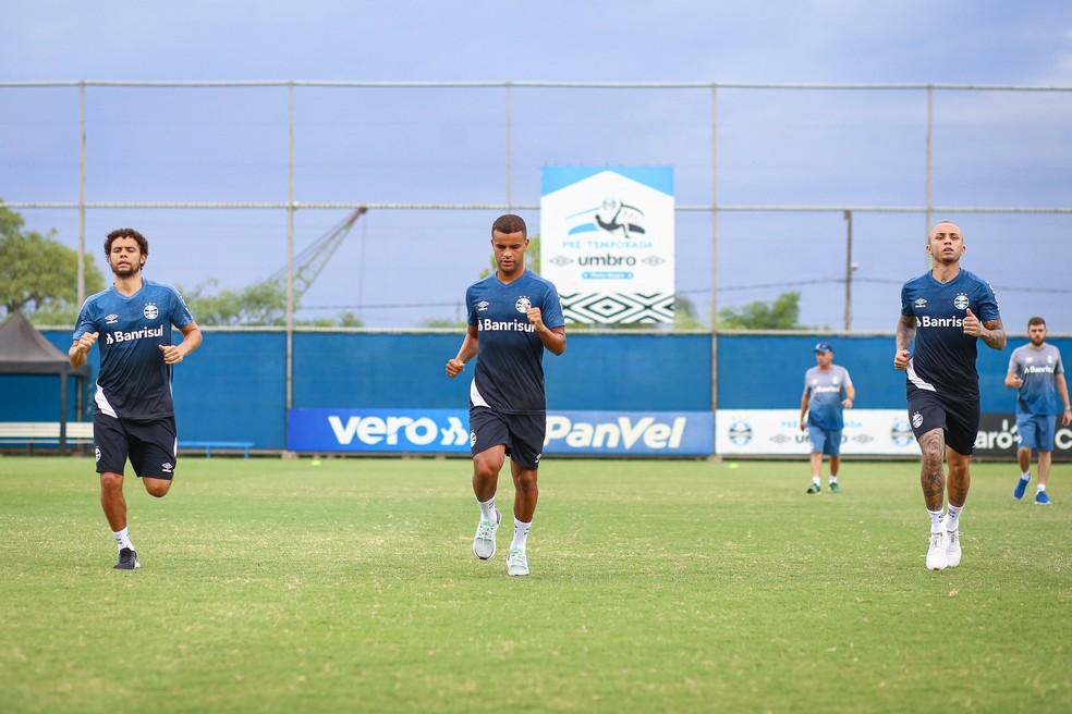 Treino Grêmio  — Foto: Lucas Uebel/Divulgação Grêmio