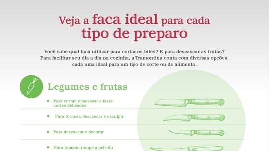É de Casa mostra qual faca ideal para cada preparo