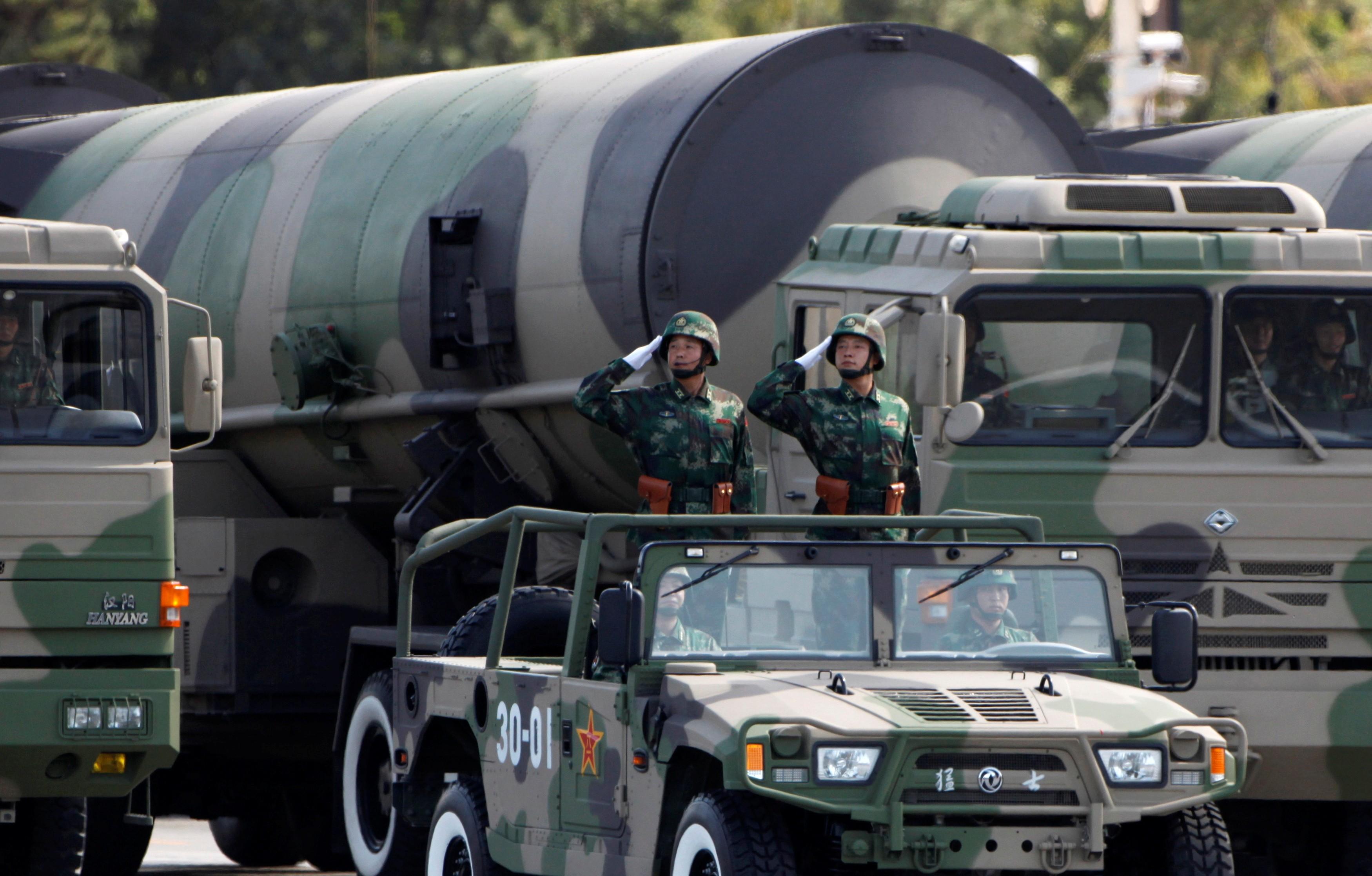 EUA estão preocupados com aumento de armas nucleares da China