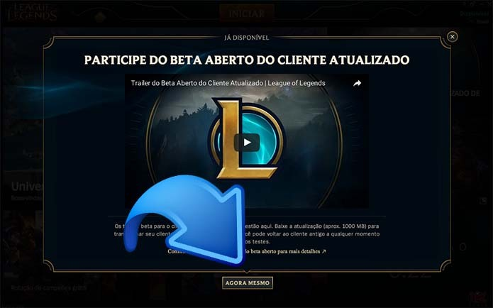 Inicie o download do update de League of Legends (Foto: Reprodução/Murilo Molina)