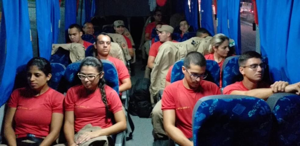 Mais 30 de bombeiros foram enviados para Patu — Foto: Divulgação