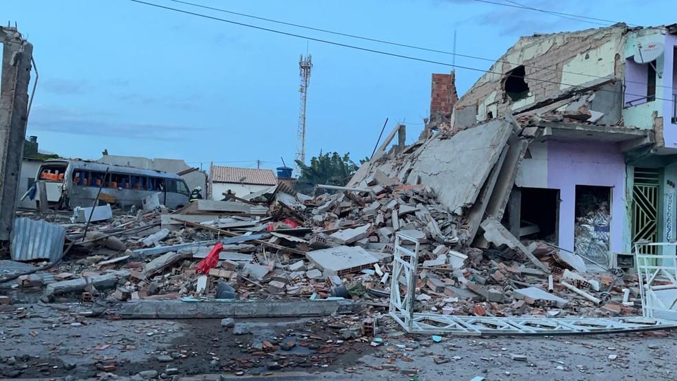 Casa de venda de fogos de artifício explode e deixa ao menos 10 feridos na Bahia; duas pessoas estão desaparecidas — Foto: Prefeitura de Crisópolis