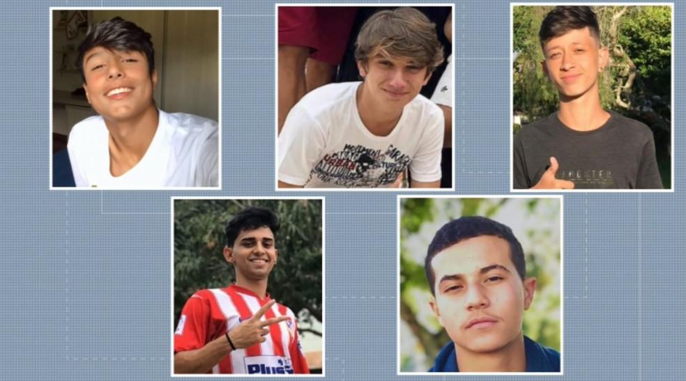 Cinco jovens morreram em acidente em Lambari (MG) — Foto: Reprodução/EPTV