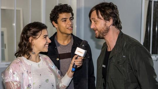 Rock in Rio: atores de 'Malhação' invadem os bastidores do show de André Frateschi