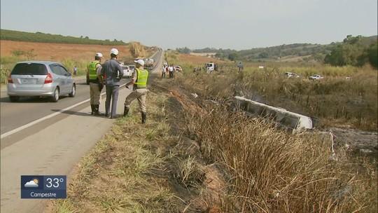 Sobe para quatro o número de vítimas de acidente entre caminhões de gás e combustível na BR-491