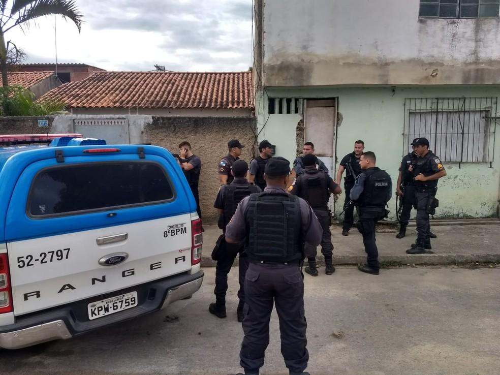 Operação contra traficantes de armas e drogas em Campos — Foto: Cléber Rodrigues/Inter TV