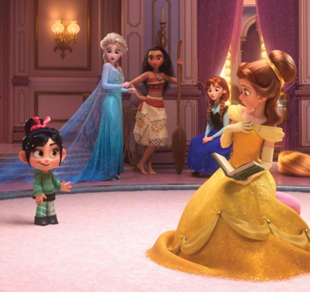 As Princesas Bela, Elsa, Anna e Moana (Foto: divulgação)
