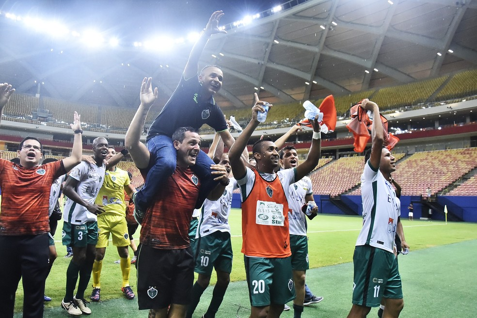 Igor Cearense conquistou o título do Amazonense 2018 como treinador do Manaus (Foto: Tácio Melo/Sejel)
