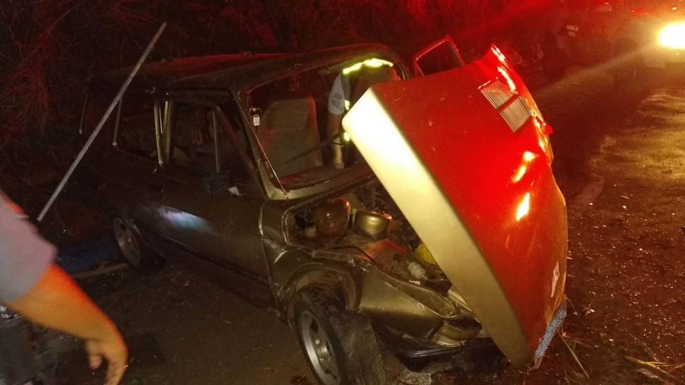 Capotamento de veículo foi registrado na SP-294 — Foto: Polícia Rodoviária