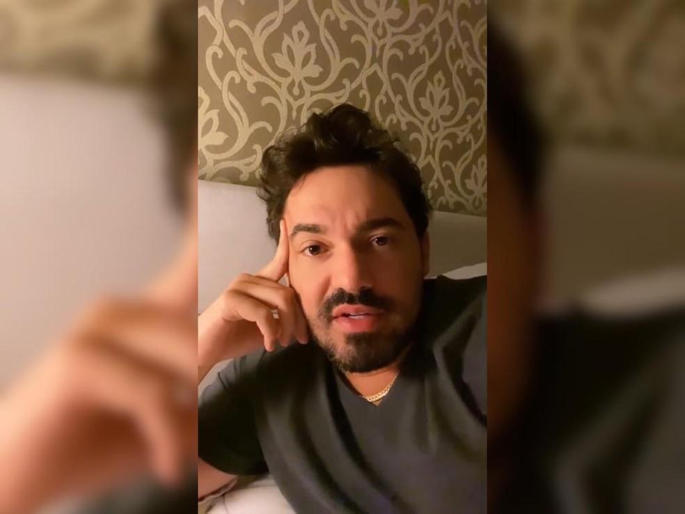 Sertanejo Fernando Zor fala sobre acidente que sofreu na Rodovia dos Bandeirantes — Foto: Reprodução / Instagram