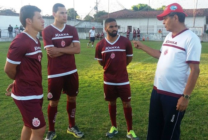América-RN - Leomir, Pablo Oliveira e Romarinho - Francisco Diá (Foto: Assessoria de Comunicação/América-RN FC)
