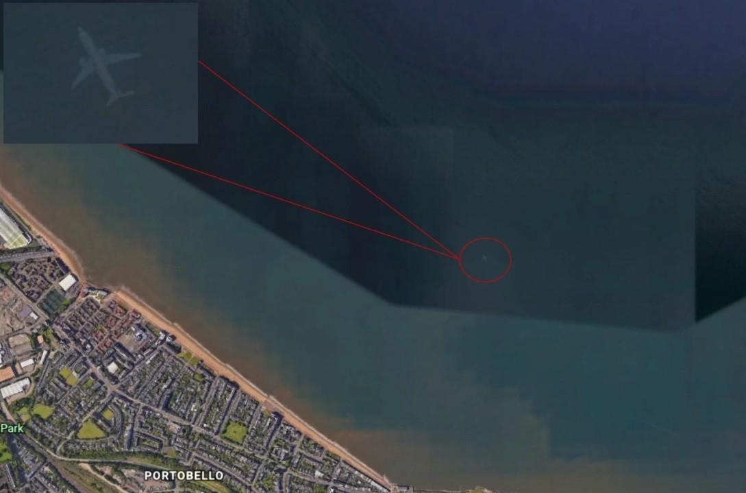 Imagem que mostraria suposto avião (Foto: Reprodução/ Google Maps)
