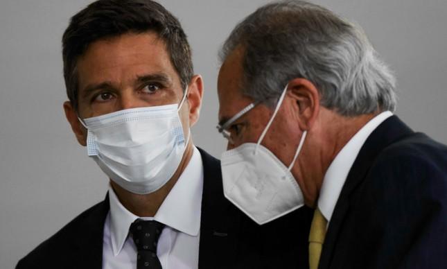O presidente do Banco Central, Roberto Campos Neto, e o ministro da Economia, Paulo Guedes