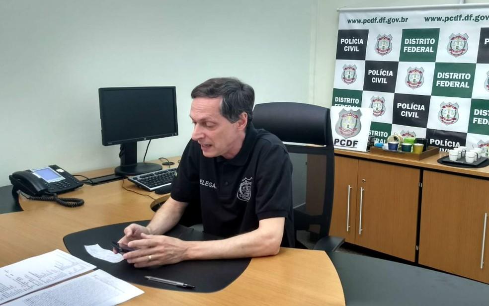 Chefe da Divisão de Repressão a Sequestros do DF, delegado Leandro Ritt (Foto: Marília Marques/G1)