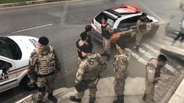 Policiais de SP e MG trocam tiros em Juiz de Fora (Ana Paula Cruzeiro/G1)