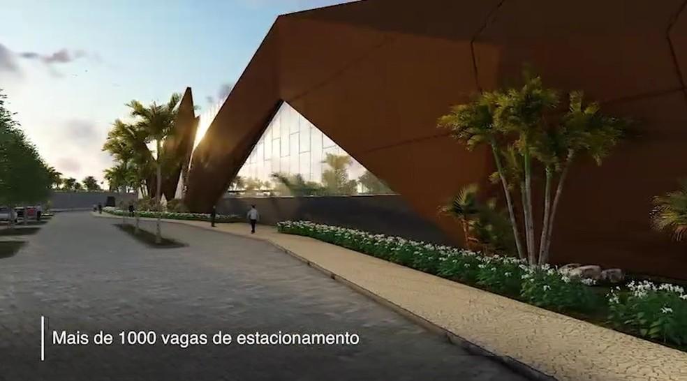 Projeto do Centro de Convenções Municipal em Salvador — Foto: Reprodução