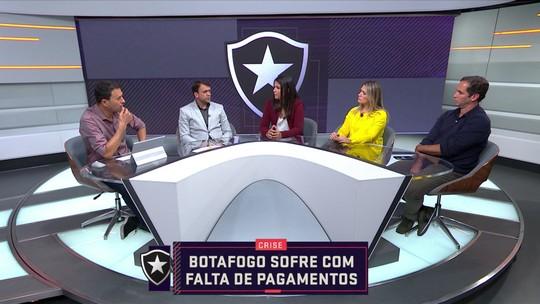 Comentaristas debate a crise no Botafogo com a falta de pagamentos dos salários