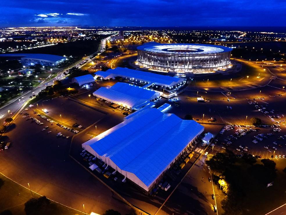 Imagem aérea da estrutura do 8º Fórum Mundial da Água (Foto: Gabriel Jabur/Agência Brasília)