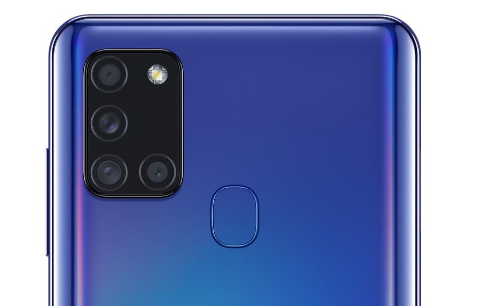 Câmera quádrupla do Galaxy A21S tira fotos de até 48 MP — Foto: Divulgação/Samsung