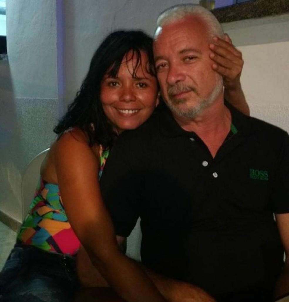 Cristina Gomes da Silva e Luiz Tadeu Costa ficaram feridos no deslizamento de barreira no Recife — Foto: Reprodução/WhatsApp