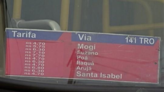 Tarifa de ônibus intermunicipais fica mais cara no Alto Tietê a partir desta terça-feira