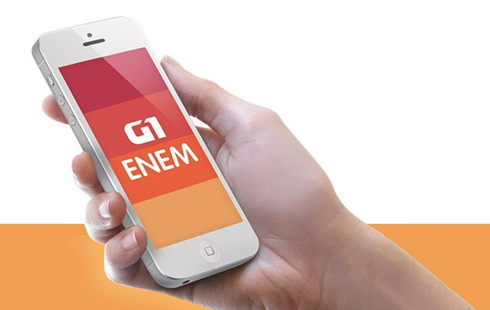 App Enem G1 (Foto: Arte/G1)