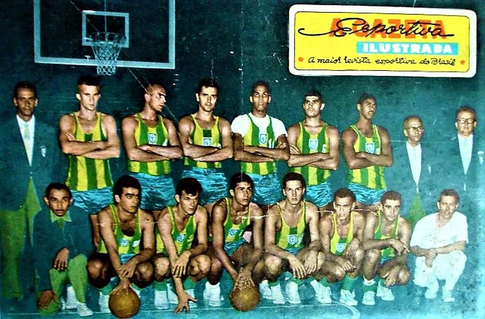 Seleção brasileira em 1959, no Chile — Foto: Reprodução